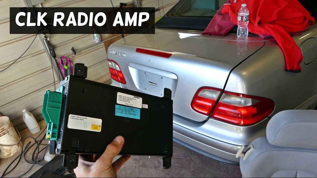 MERCEDES CLK W208 AMP AMPLIFIER REMOVAL REPLACEMENT clk320