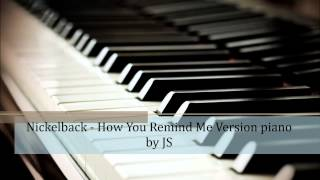 Nickelback - How You Remind Me piano cover