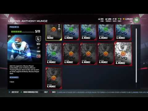 Madden NFL 17 Anthony Munoz Legend Collection MUT 17