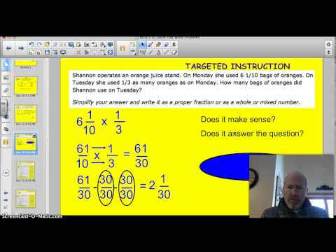 5.5C Solve Problems Multiplying Fractions and Mixed Numbers