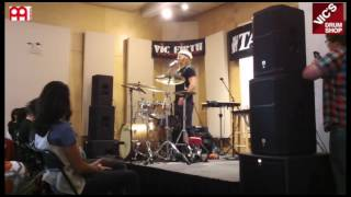 Paul Wandtke in store drum clinic at Vic's Drum Shop(Paul Wandtke discusses getting the call to join the world famous metal titans Trivium, studying at Berklee, his top 5 favorite drummers, the importance of learning ..., 2016-11-06T19:59:15.000Z)