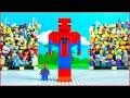 Lego BIG SPIDERMAN Brick Building Animation for Kids