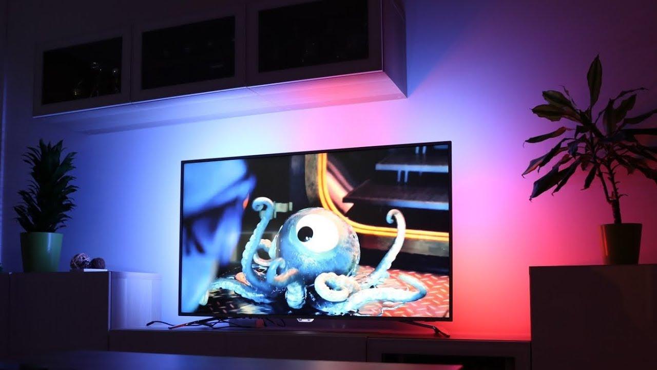 Bardzo dobra Philips Ambilight TV - YouTube PL19