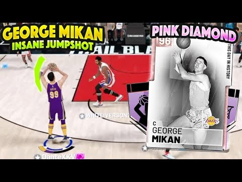 FREE PINK DIAMOND GEORGE MIKAN IS INSANE!! BEST BIG MAN JUMPSHOT IN THE GAME! NBA 2K19 thumbnail