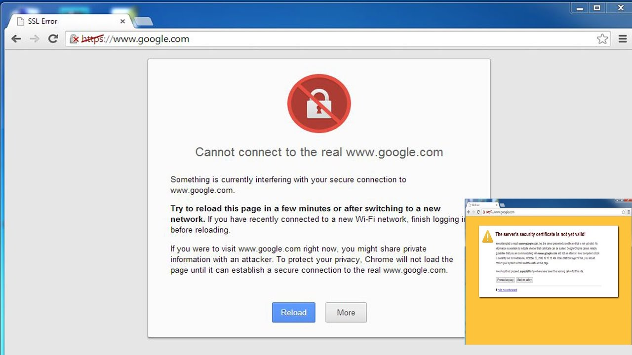 Hindiurdu Ssl Error Google Chrome Fix Youtube