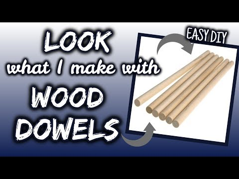 LOOK what I make with WOOD DOWELS | QUICK & EASY DIY