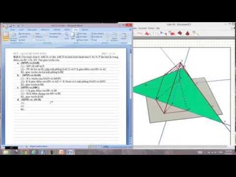 Hình học không gian lớp 11 (giao tuyến 2 mặt phẳng)