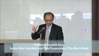Distinguished Lecture on China and Global Development by Professor Kaushik Basu