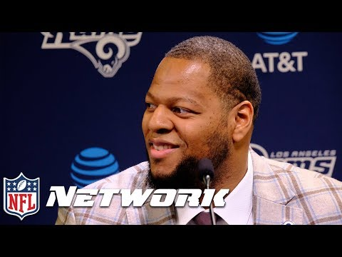 """Ndamukong Suh, """"Reputation Gets Skewed by A lot of Opinions"""" at Rams Intro Presser 