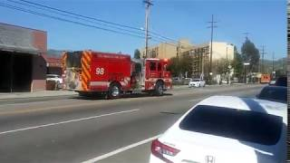 LAFD NEW Engine 98 and Rescue 98 Responding