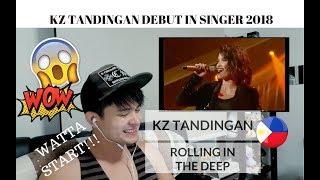 [REACTION] MUST WATCH! KZ TANDINGAN - Rolling In The Deep | Singer 2018 Debut | #JANGReacts