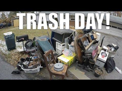 GARBAGE PICKING DAY - Finding Cool Things Left Out For Trash!