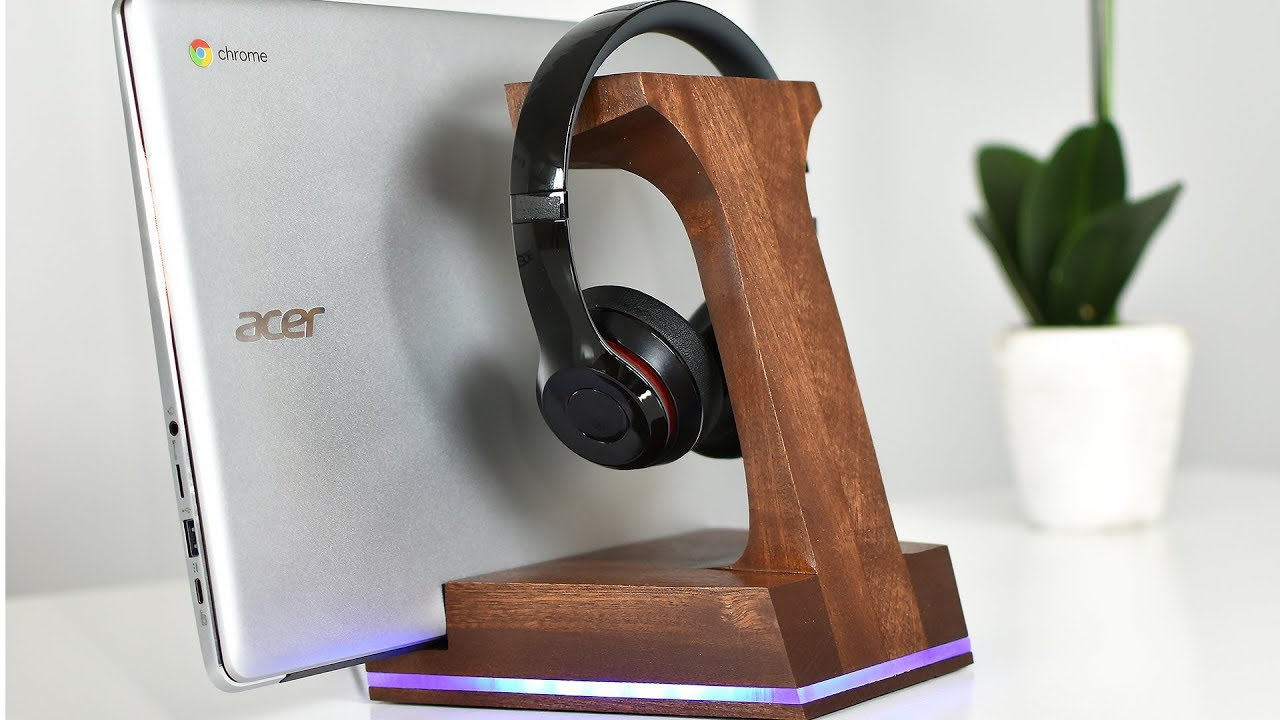 Headphone Stand Designs : Diy led headphone stand youtube