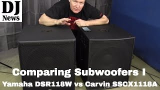 "Comparing 18"" Subwoofers: By John Young of the Disc Jockey News #discjockeynews"