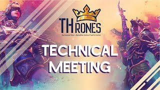 TECHNICAL MEETING JADWAL DAN ATURAN TOURNAMENT THRONE GAMEZ