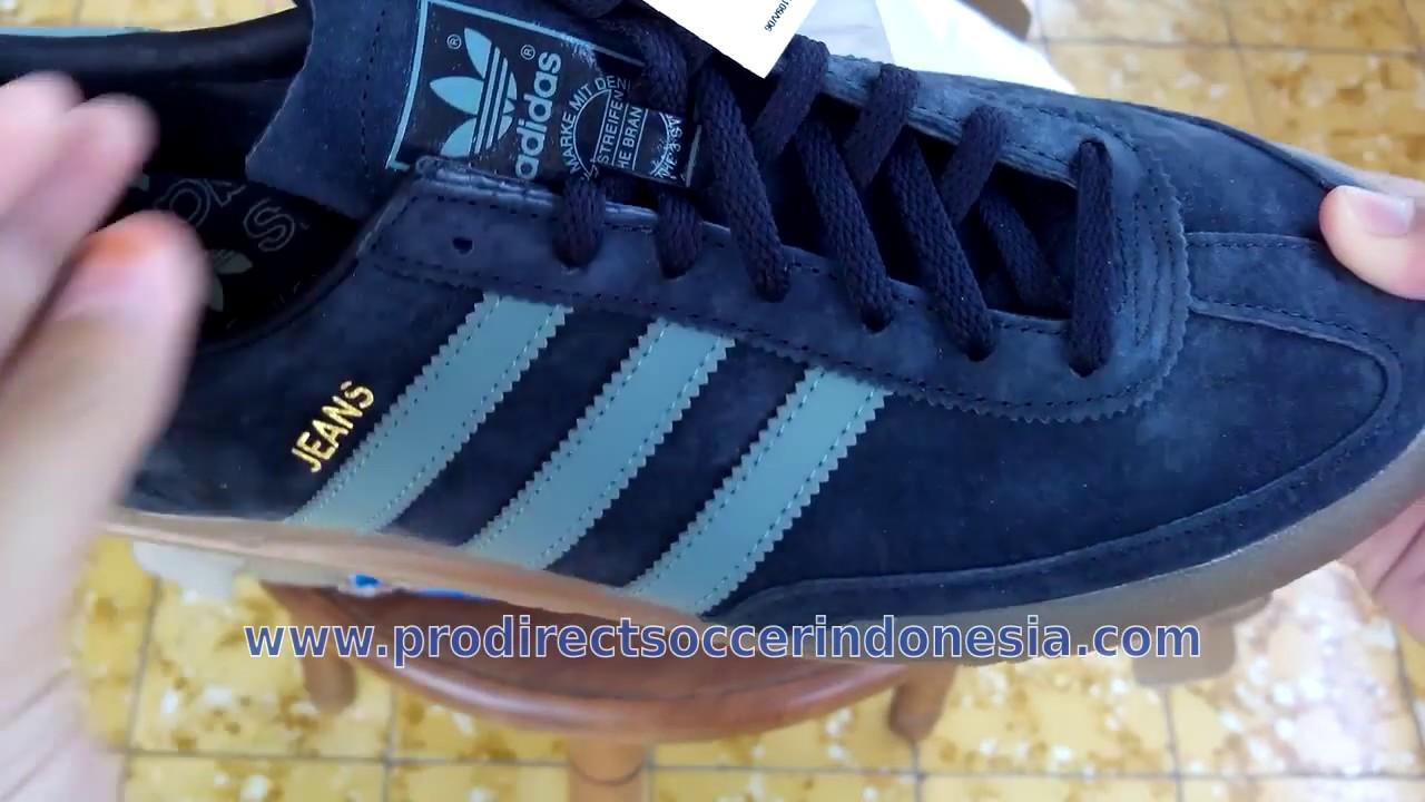 Sepatu Sneakers Adidas jeans Navy Blue Gum S79997 Original - YouTube 555e9bb91d
