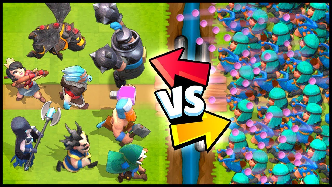 RASCALS vs ALL LEGENDARY CARDS – Clash Royale Highlights