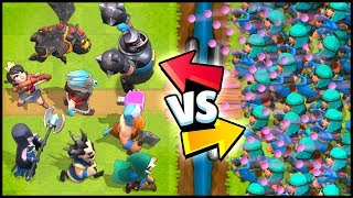 RASCALS vs ALL LEGENDARY CARDS - Clash Royale Highlights