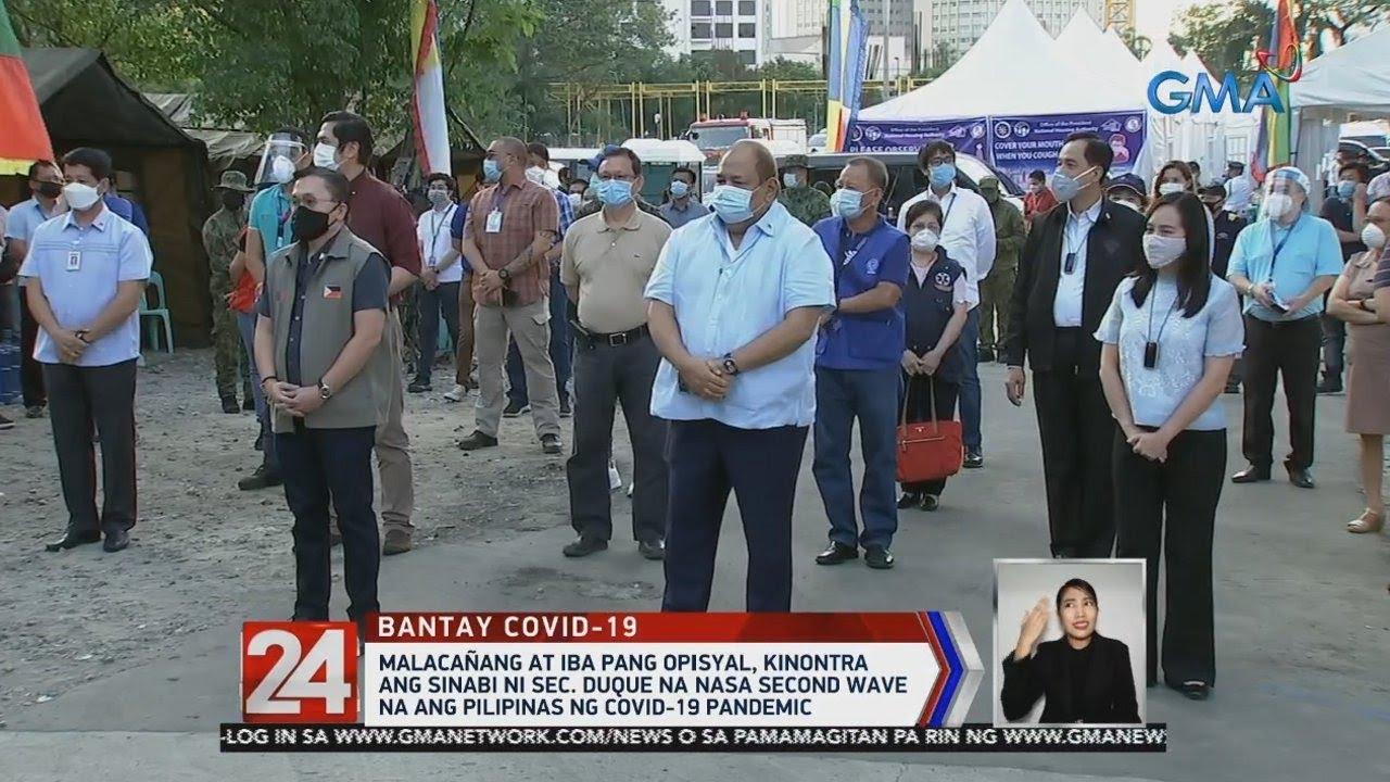 24 Oras: Malacañang at iba pang opisyal, kinontra ang sinabi ni Sec. Duque na nasa second wave na...