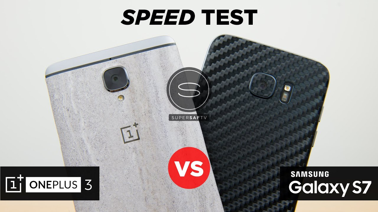 The 3 OnePlus Succumbs in a Speed Test to The S7 Galaxy Edge