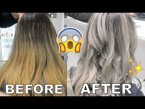 HAIR COLOUR CORRECTION TRANSFORMATION! (ORANGE TO GREY)