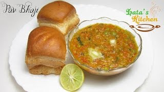 Pav Bhaji Recipe - Pao Bhaji Recipe - Indian Street Food Recipe Video - Lata's Kitchen