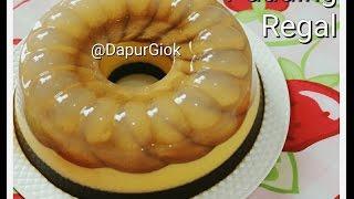 Resep Pudding Biskuit Marie Regal - Cara Membuat Pudding Regal Lapis 3