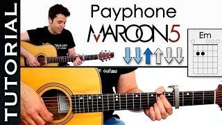 como tocar payphone de maroon 5 en guitarra tutorial completo acordes ritmo y arpegios