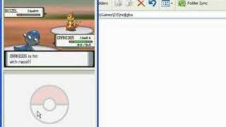 Pokemon Diamond US on No$GBA DS Emulator - (faster than DS)