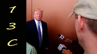 13C asks Donald Trump about the Second Amendment and AR-15's