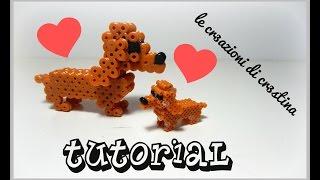 Tutorial Cane Bassotto 3D con Hama Beads - DIY Dog Perler Beads
