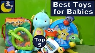 TOP 5 Best Toys for Babies 0-6 Months! Fisher Price, Lamaze Soother, Crinkle Book & MORE!