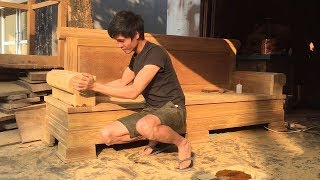 Woodworking Skills Excellent Carpenter // How To Make A Sofa Extremely Large From Hardwood!!!