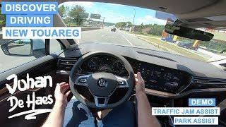 NEW 2018 VW TOUAREG 3.0 TDI V6 286 hp POV test drive /Business Atmosphere