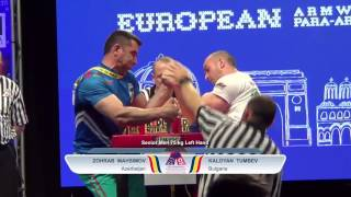 EURO ARM 2016- Senior MEN -75kg LEFT - QUALIFICATION - EUROPEAN ARMWRESTLING CHAMPIONSHIP(Please Subscribe for more cool armwrestling action Follow us on Facebook:http://tinyurl.com/lvpl7fe Video source :WORLD ARMWRESTLING FEDERATION ..., 2016-06-01T20:52:38.000Z)