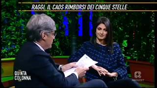 Virginia Raggi a Quinta colonna 15/2/2018