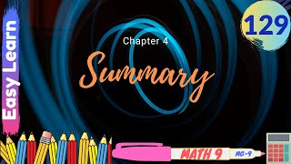 MG-9 Episode#129 | Summary Chapter#4 9th class Urdu | Chapter#4 9th Class Math