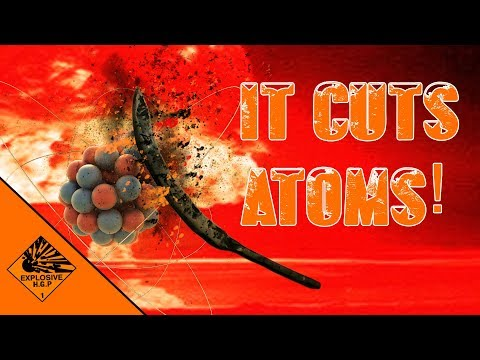 the knife that can cut atoms!