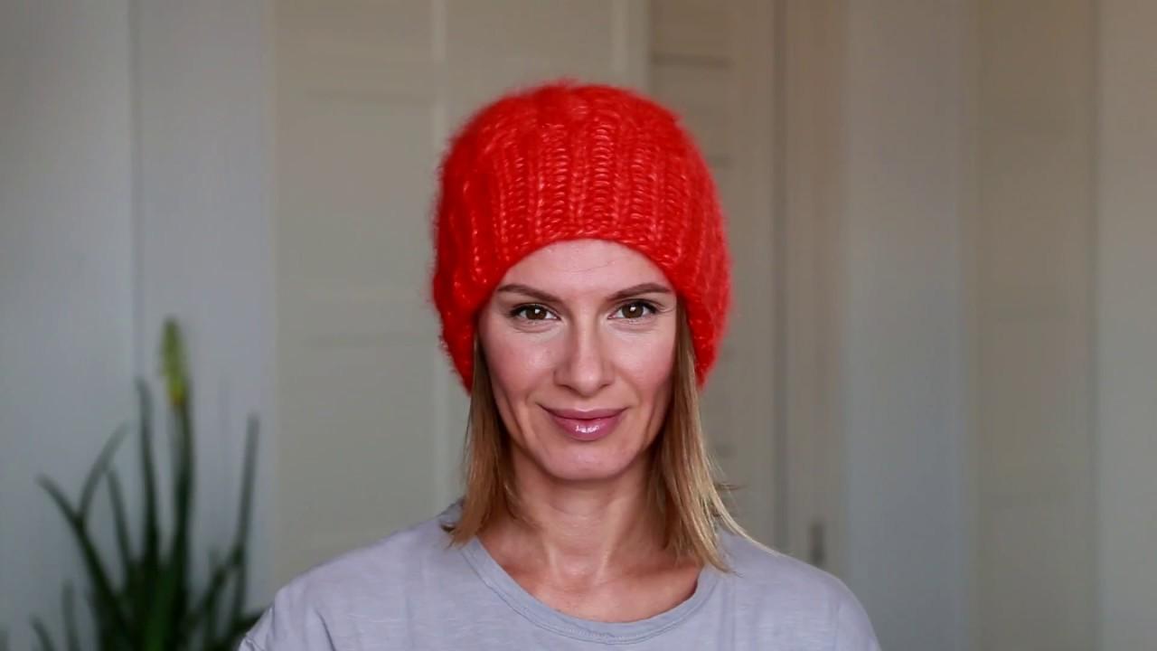 шапка хельсинки спицами описание схема вязания видео мк фото