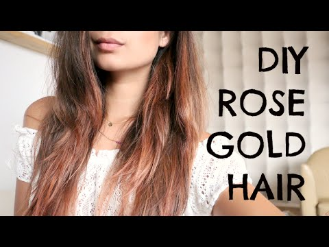 Diy Rose Gold Hair Met La Riche Directions Youtube