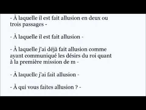 ALLUSION French Word Pronunciation In A Sentence