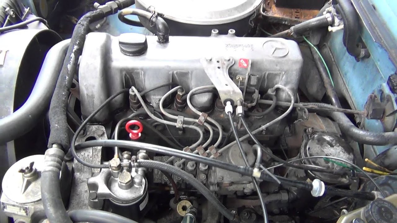 1981 mercedes 240d 4 cilinder diesel engine still runs