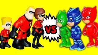Incredibles 2 Play PJ Masks Super Hero Hide and Seek with Puppy Dog Pals and Vampirina