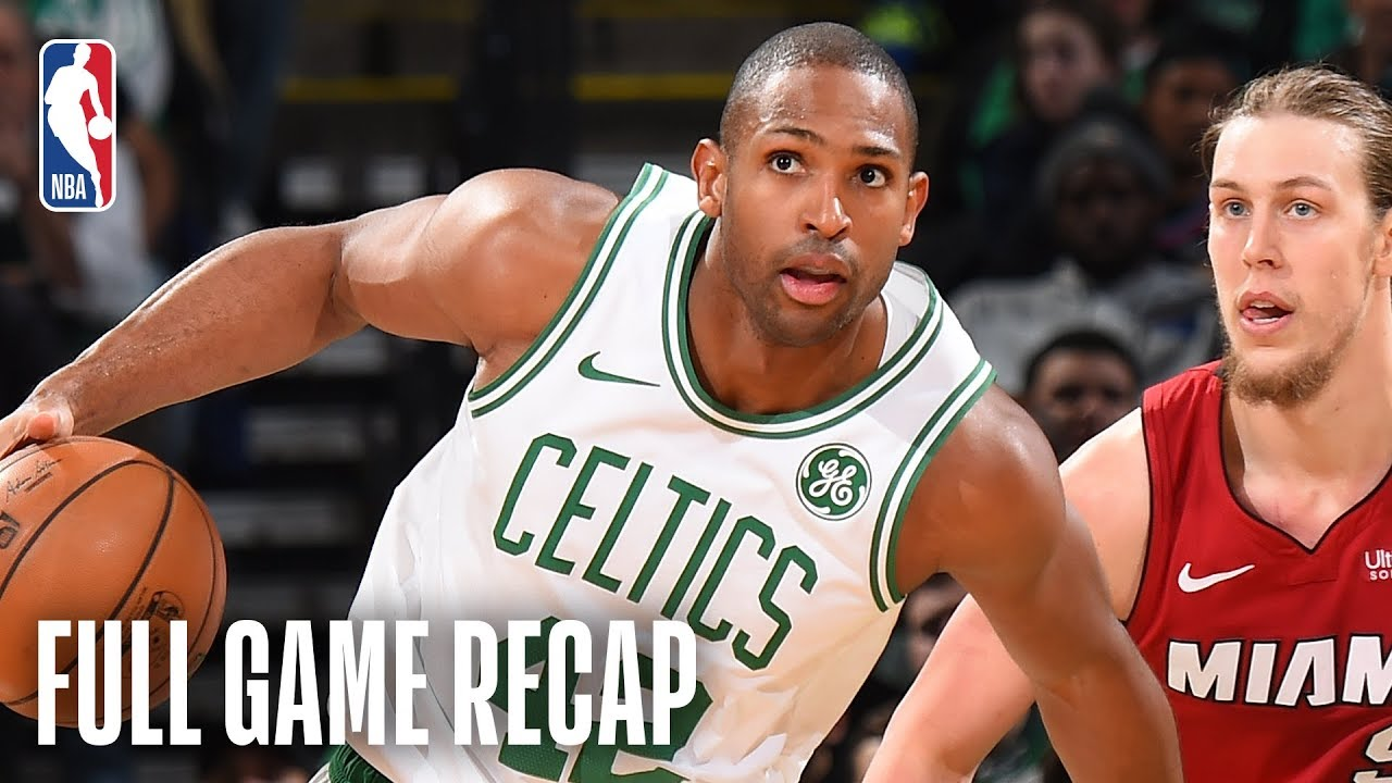 HEAT vs CELTICS | Al Horford Records 2nd Career Triple-Double