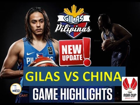 GILAS UPDATE! Philippines won over China Gilas Team Highlights