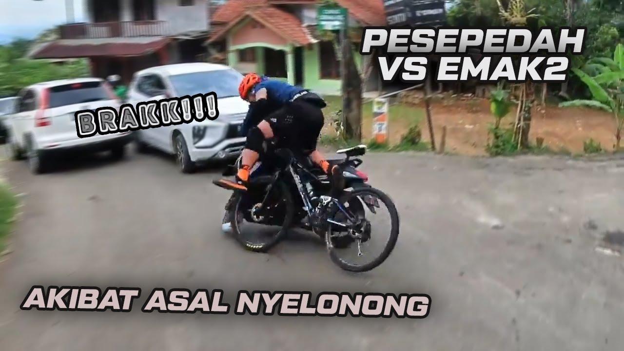 Nabrak Emak2 Di Jalan Menurun - Dede Gemes Crash - Akibat Rantai Lepas Ditikungan || RH#102