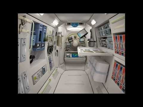 Russian space hotel by 2016 youtube for Interieur vaisseau spatial