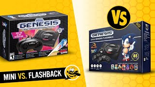 Sega Genesis Mini vs. Sega Genesis Flashback HD