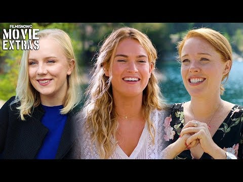 MAMMA MIA! HERE WE GO AGAIN On-set with Young Dynamos Lily James, Jessica Keenan Wynn, Alexa Davies