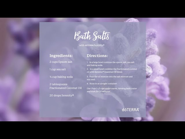 Made in a Minute | Serenity® Bath Salts